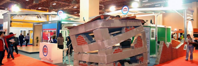 تركزت أوجاه نظر زوار معرض إدارة كوارث الآفات الطبيعية إلى جناح شركة بريفابريك يابي  المساهمة.