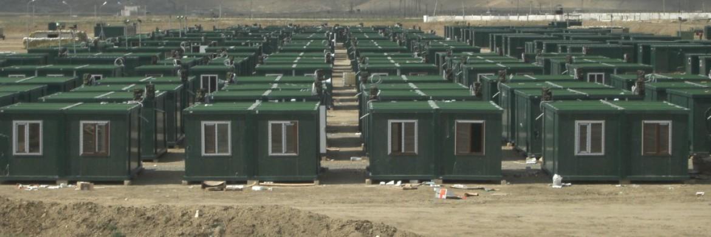 اتممت الشركة مشروع مخيم الحاويات في آذربيجان