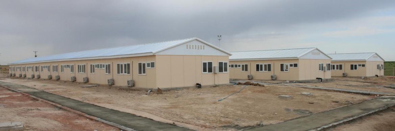 مباني متنقلة منشأة في ساحات تخزين الغاز الطبيعي يناحية طوزغولو