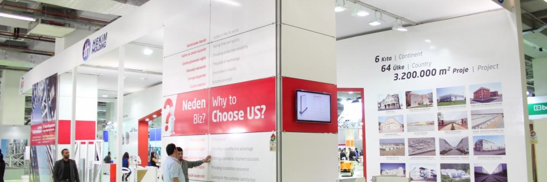 نالت شركة بريفابريك يابي المساهمة إهتماماً فائقاً في معرض إسطنبول 36 لإنشاءات لسبب إتباعها  تقنيات حديثة