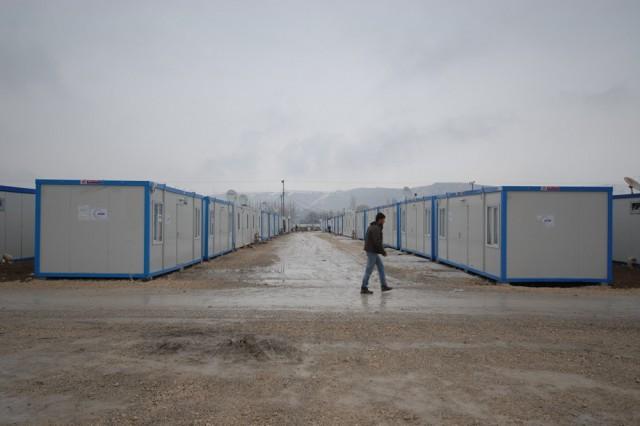 مشروع حاويات المعيشات الطارئة المنفذ من قبل منظمة AFAD