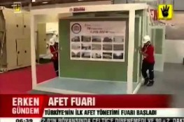 نشرة الأخبار بإذاعة [ÜlkeTV] حول معرض إدارة  الكوارث والآفات الطبيعية