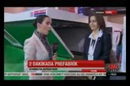 نشرة الأخبار بإذاعة [CNNTurk] حول ممارسات شركة بريفابريك يابي المساهمة