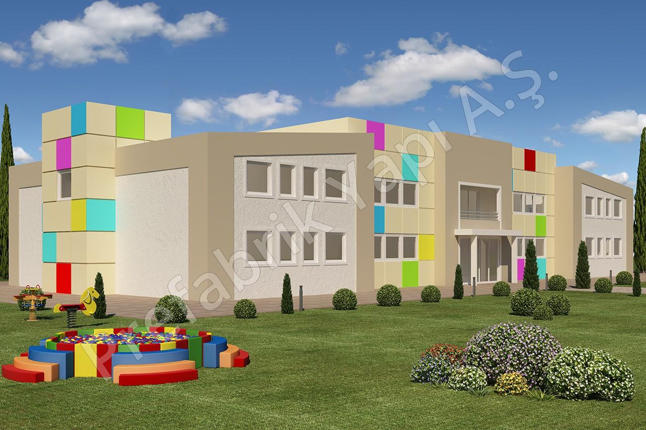 مدرسة حضانية مساحتها 1166 م2 1