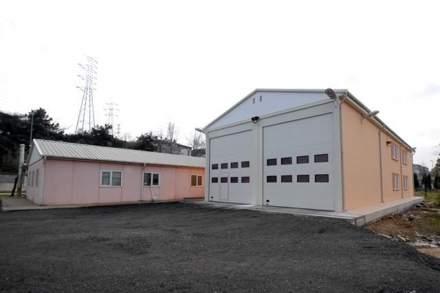 مشروع مباني كراج ومفرزات إدارة إطفاء الحرائق التابعة لإدارة بلدية إسطنبول الكبرى
