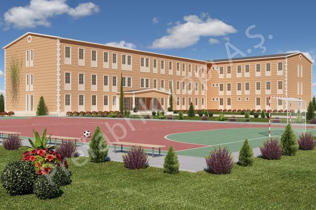 مدرسة إبتدائية مساحتها 2388 م2