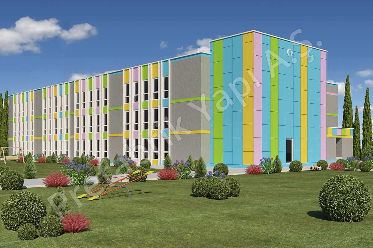 مدرسة إبتدائية مساحتها 3036 م2 1