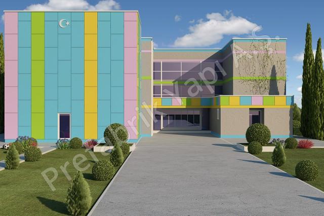 مدرسة إبتدائية مساحتها 3036 م2