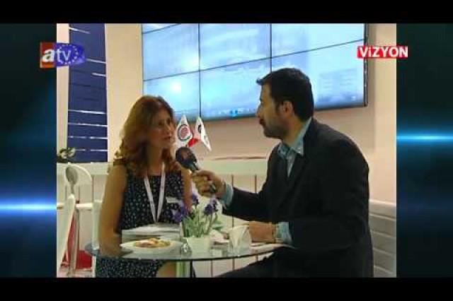 برنامج فيزيون بإذاعة [ATV Avrupa] حول ممارسات شركة بريفابريك للإنشاءات المساهمة  بمعرض الإنشاءات المنعقد في عام 2014