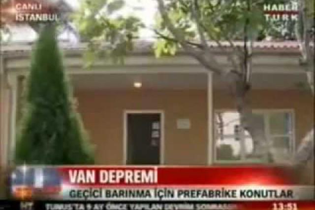 نشرة الأخبار بإذاعة [Haber Türk] حول ممارسات شركة بريفابريك يابي المساهمة