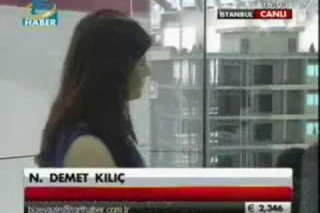 نشرة الأخبار بإذاعة [TGRT] حول ممارسات شركة بريفابريك يابي المساهمة بمعرض الإنشاءات  المنعقد في عام 2013