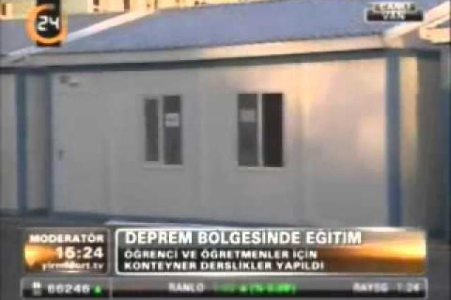 نشرة الأخبار بإذاعة [Kanal 24] حول ممارسات شركة بريفابريك يابي المساهمة