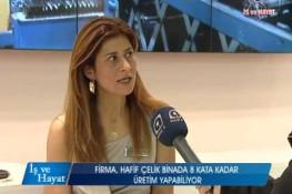 برنامج العمل والحياة بإذاعة [Kanal A] حول ممارسات شركة بريفابريك يابي المساهمة بمعرض الإنشاءات المنعقد في عام 2014