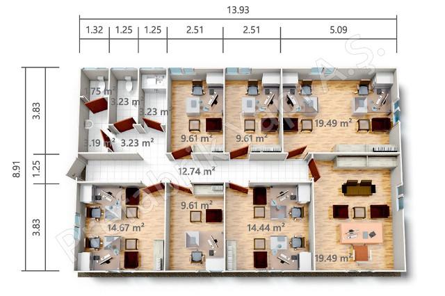 بي ر أو 124 م2 مخطط