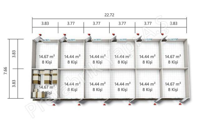 بي ر ي ت 175 م2 مخطط