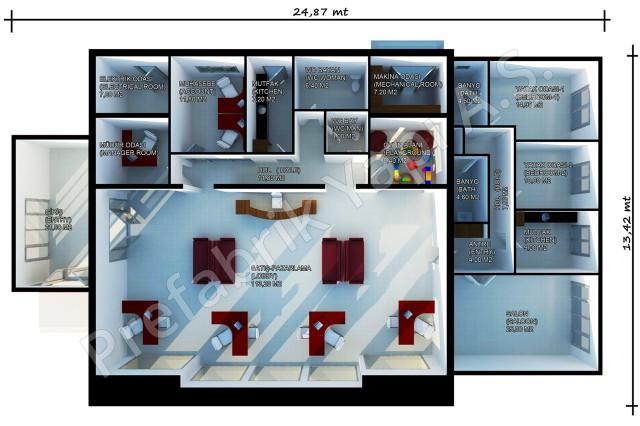 مكتب المبيعات مساحته 318 م2 الأول