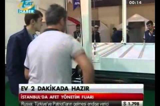 نشرة الأخبار بإذاعة [TGRT] حول الحاويات المنصبة خلال 2 دقيقة