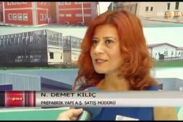 برنامج الأسواق الإقتصادية بإذاعة [ATV Avrupa] حول شؤون الممارسات بمعرض إسطنبول للإنشاءات المنعقد في عام 2015