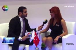 برنامج العرض الإقتصادي بإذاعة [Show Türk] حول شؤون الممارسات بمعرض إسطنبول للإنشاءات المنعقد في عام 2015